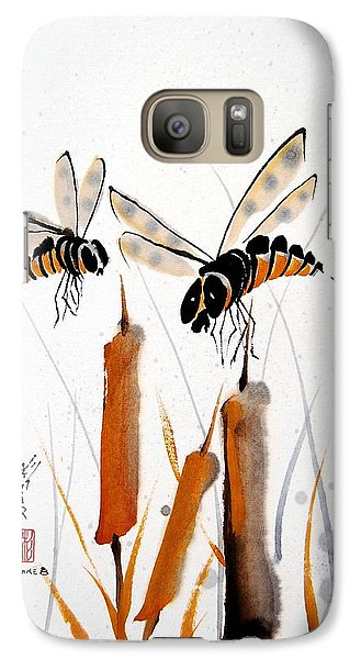 Galaxy Case featuring the painting Bee-ing Present by Bill Searle