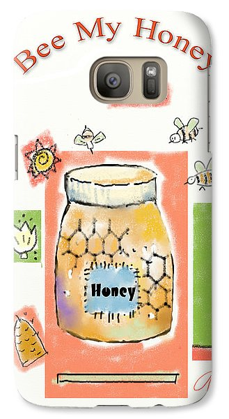 Galaxy Case featuring the digital art Bee My Honey by Arline Wagner