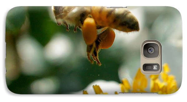 Galaxy Case featuring the photograph Bee's Feet Squared by TK Goforth