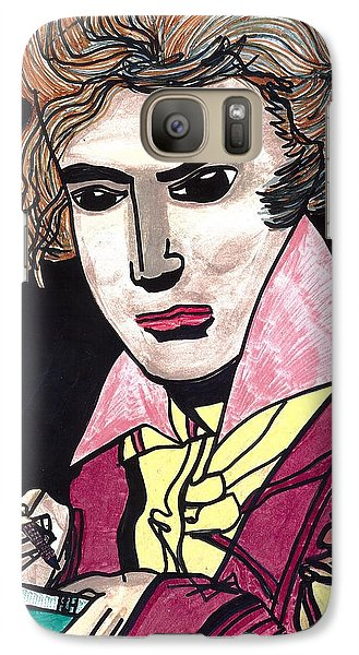Galaxy Case featuring the drawing Beethoven by Don Koester