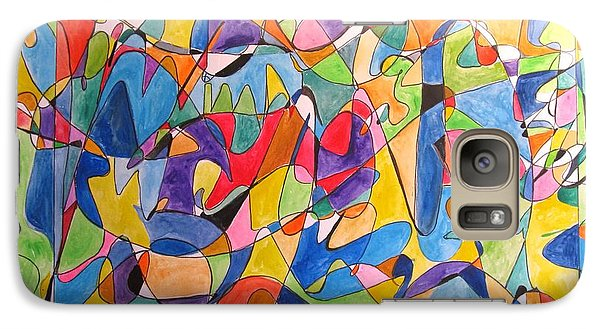 Galaxy Case featuring the painting Beethoven's Symphony Number Five by Esther Newman-Cohen