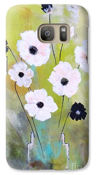 Galaxy Case featuring the painting Beetle Flowers by France Laliberte