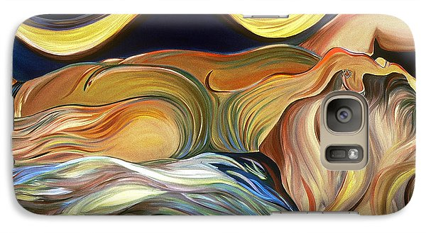 Galaxy Case featuring the painting Before The Awakening by Carolyn Goodridge