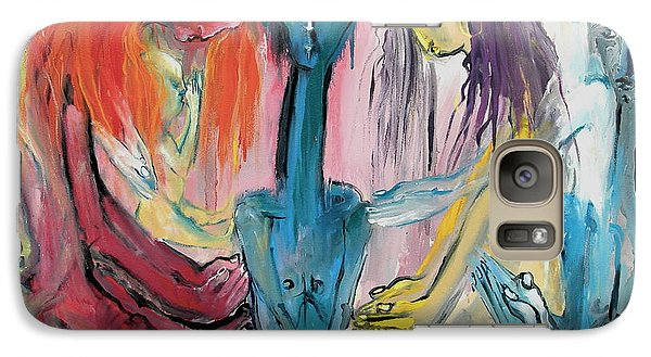 Galaxy Case featuring the painting Before The Deity by Kenneth Agnello