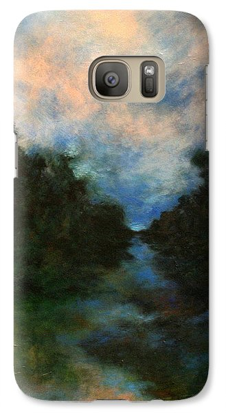 Galaxy Case featuring the painting Before The Dream by Alison Caltrider