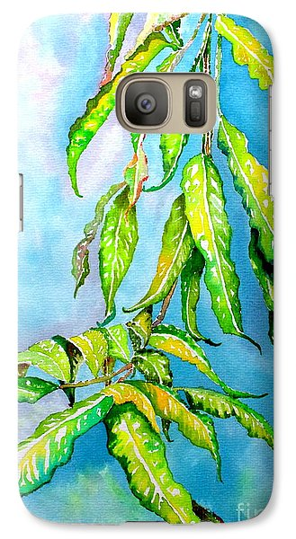 Galaxy Case featuring the painting Before The Monsoon Rains Fall by Julie  Hoyle