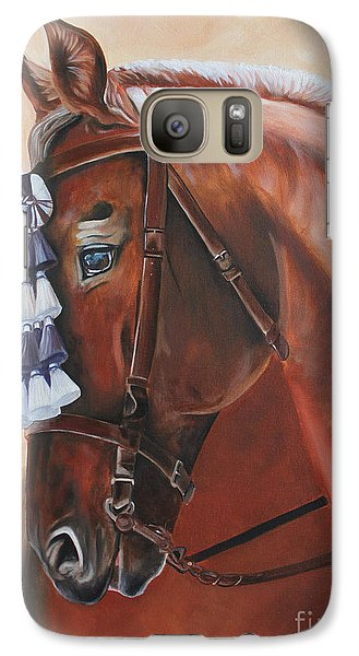 Galaxy Case featuring the painting Before The Show by Debbie Hart