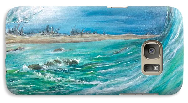Galaxy Case featuring the painting Before The Storm by Dawn Harrell