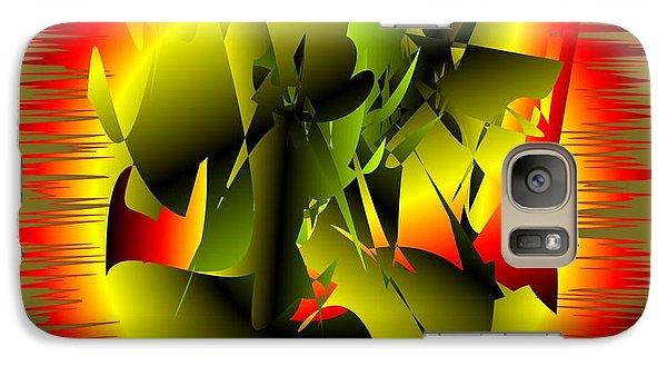 Galaxy Case featuring the digital art Beginning by Iris Gelbart