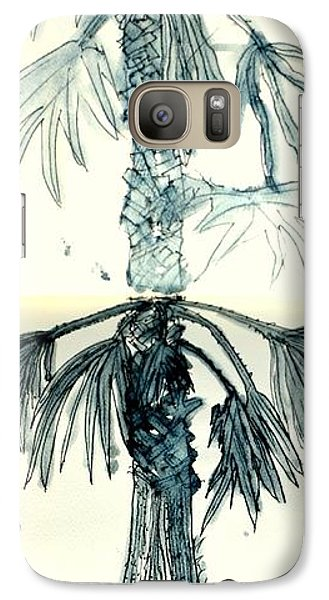 Galaxy Case featuring the drawing Beginnings by Antonia Citrino