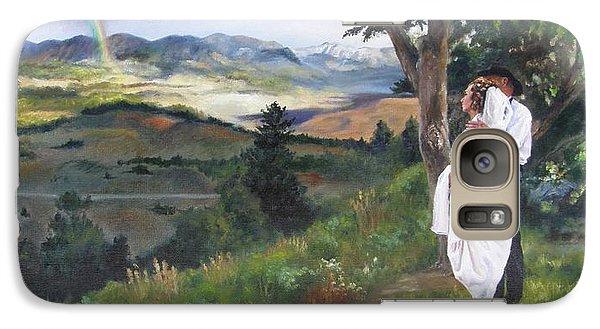 Galaxy Case featuring the painting Beginnings by Lori Brackett