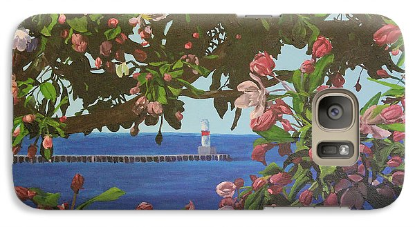 Galaxy Case featuring the painting Beginnings Of Summer At The Waterfront by Wendy Shoults