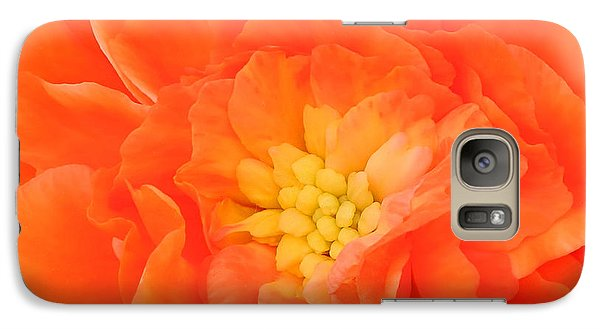 Galaxy Case featuring the photograph Begonia by Sami Martin