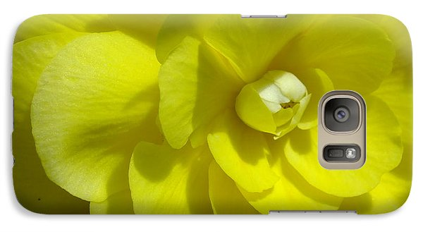 Galaxy Case featuring the photograph Begonia Up Close by Gene Cyr