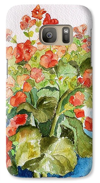Galaxy Case featuring the painting Begonias Still Life by Geeta Biswas