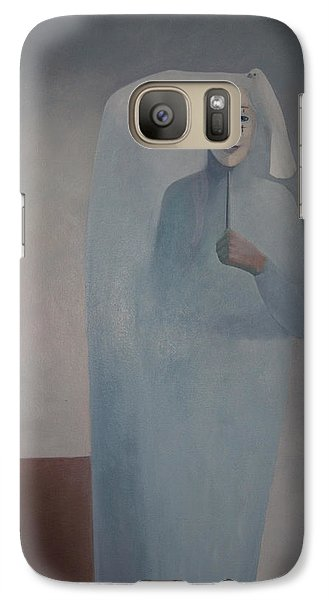 Galaxy Case featuring the painting Behind Me -  Is White Lady by Tone Aanderaa