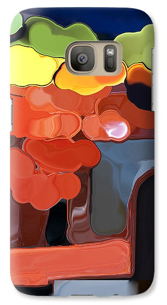 Galaxy Case featuring the digital art Behind My Window by Haleh Mahbod