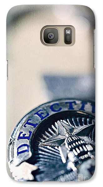 Galaxy Case featuring the photograph Behind The Badge by Trish Mistric