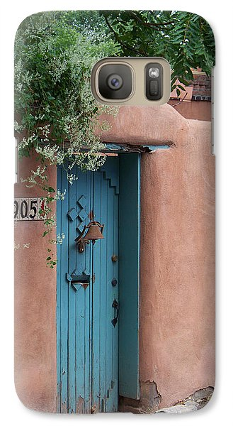 Galaxy Case featuring the photograph Behind The Blue Door by Sylvia Thornton