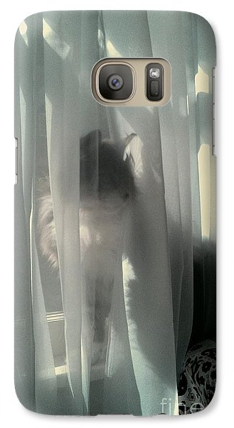 Galaxy Case featuring the photograph Behind The Curtain by Jacqueline McReynolds