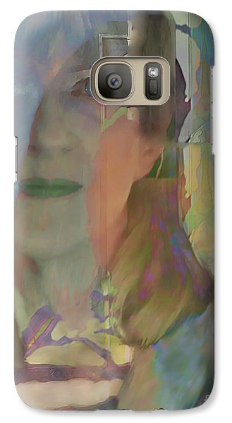 Galaxy Case featuring the digital art Behind The Curtain by Ursula Freer