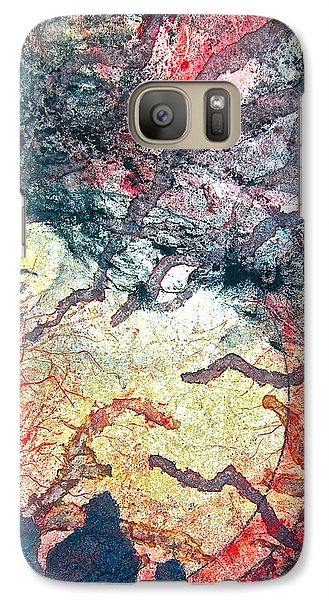 Galaxy Case featuring the painting Behind Tomorrow's Memories by Carolyn Rosenberger