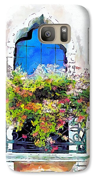 Galaxy Case featuring the painting Bei Fiori by Greg Collins