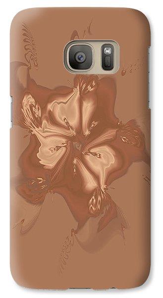 Beige Satin Morning Glory Galaxy S7 Case