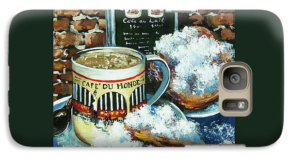 Galaxy Case featuring the painting Beignets And Cafe Au Lait by Dianne Parks
