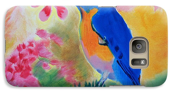 Galaxy Case featuring the painting Being One In The Moment by Meryl Goudey
