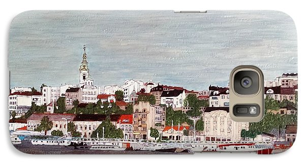 Galaxy Case featuring the painting Belgrade Serbia by Jasna Gopic