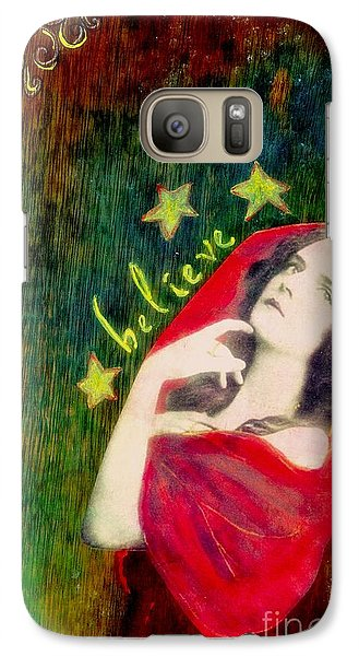 Galaxy Case featuring the mixed media Believe by Desiree Paquette