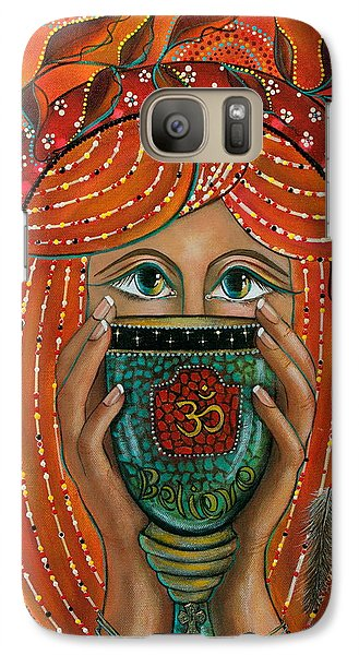 Galaxy Case featuring the painting OM by Deborha Kerr