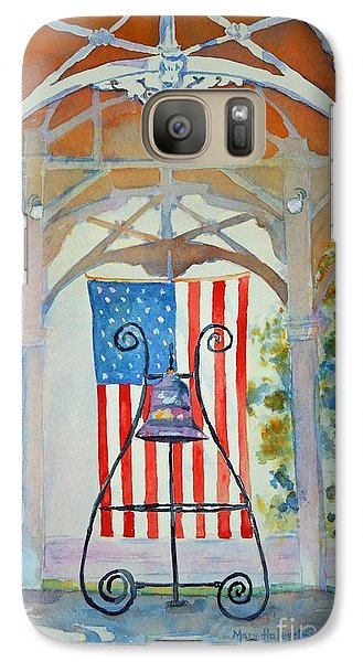 Galaxy Case featuring the painting Bell And Flag by Mary Haley-Rocks