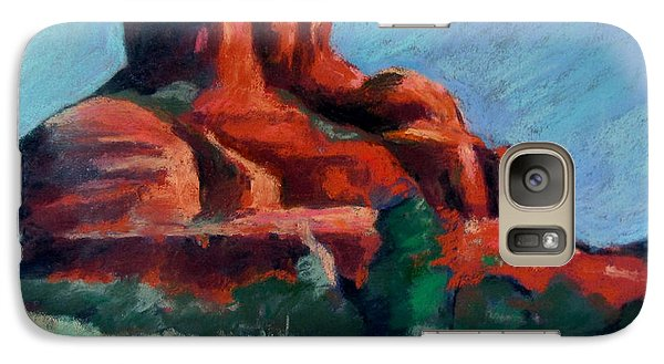 Galaxy Case featuring the painting Bell Rock Sedona by Linda Novick