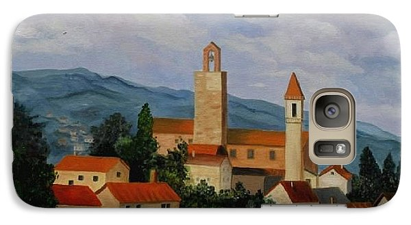 Galaxy Case featuring the painting Bell Tower Of Vinci by Julie Brugh Riffey