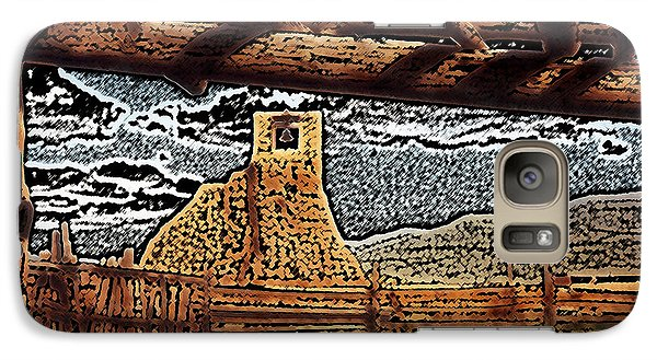 Galaxy Case featuring the digital art Bell Tower Ruins At Taos Pueblo by Kathleen Stephens