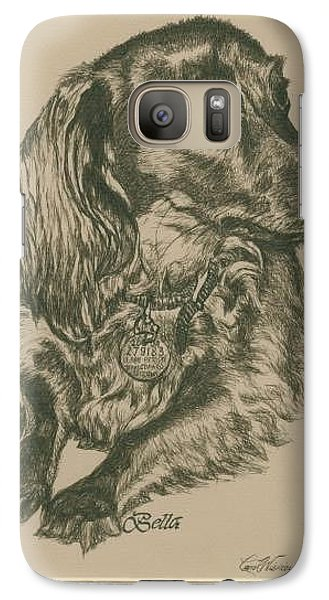 Galaxy Case featuring the drawing Bella by Carol Wisniewski