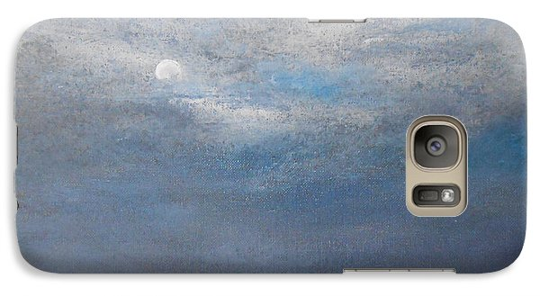 Galaxy Case featuring the painting Bella Luna by Jane  See