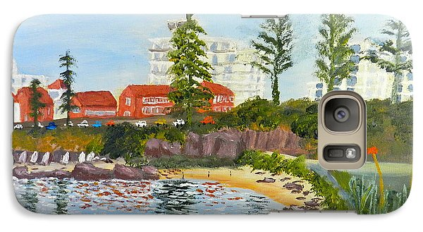 Galaxy Case featuring the painting Belmore Basin From The North Sea Wall by Pamela  Meredith