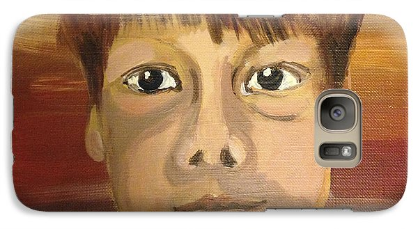 Galaxy Case featuring the painting Ben by Art Ina Pavelescu