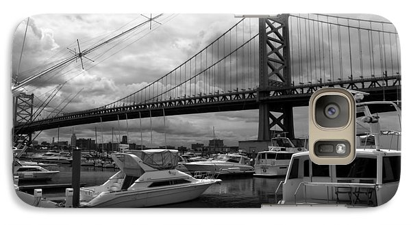 Galaxy Case featuring the photograph Ben Franklin Bridge by Dorin Adrian Berbier