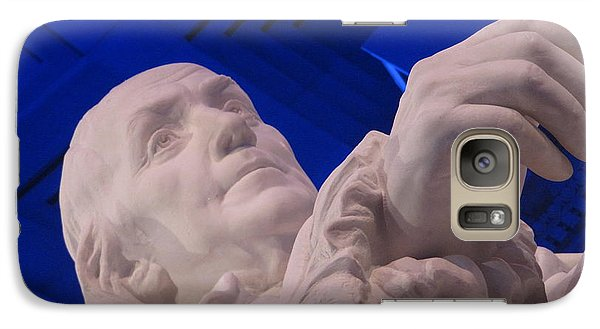 Galaxy Case featuring the photograph Ben Franklin In Blue I by Richard Reeve