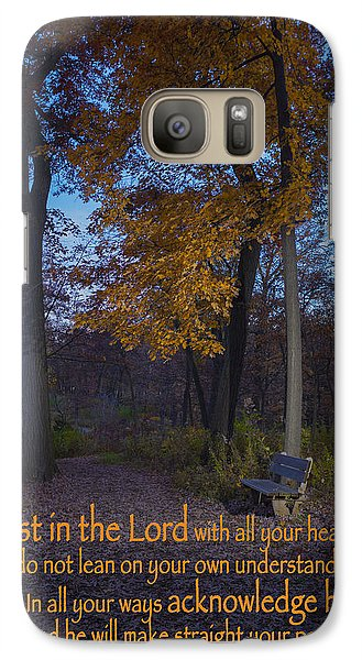 Galaxy Case featuring the photograph Bench by Ed Cilley