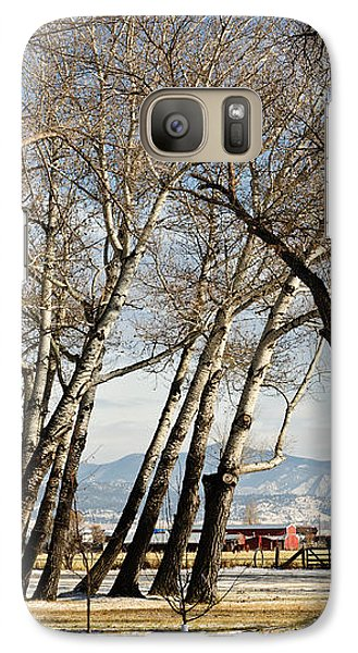 Galaxy Case featuring the photograph Bench With A View by Sue Smith