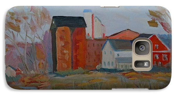 Galaxy Case featuring the painting Benfield's Mill by Francine Frank