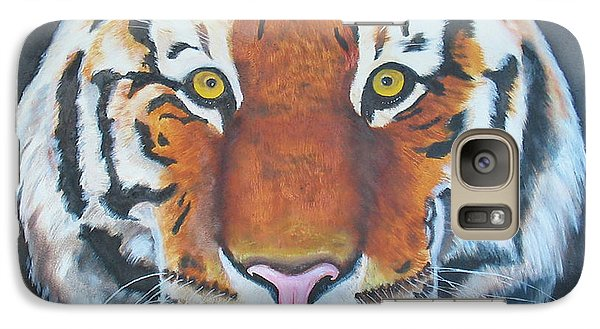 Galaxy Case featuring the painting Bengal Tiger by Thomas J Herring