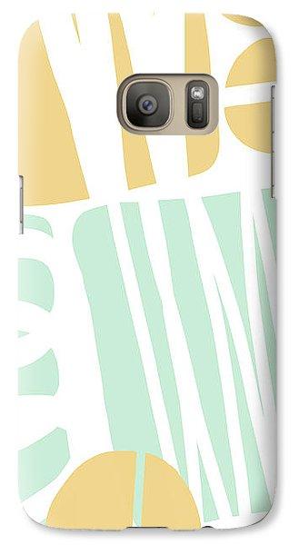 Bento 1- Abstract Shape Painting Galaxy S7 Case by Linda Woods
