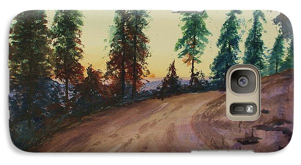 Galaxy Case featuring the painting Bergebo Forest by Martin Howard