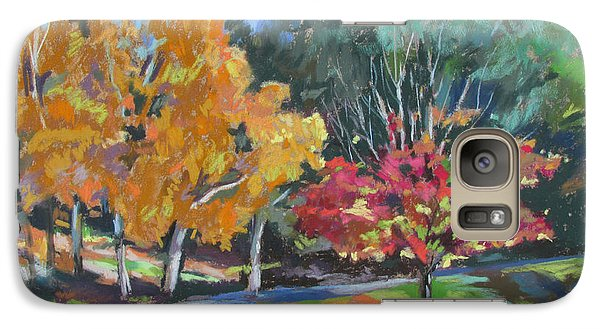 Galaxy Case featuring the painting Berkshire Fall by Linda Novick